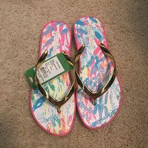 Lilly Pulitzer flip flops NWT